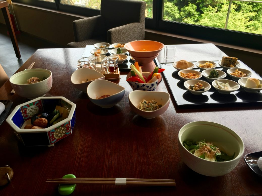 Sam and Fern's breakfast at the Aura Tachibana, Hakone.